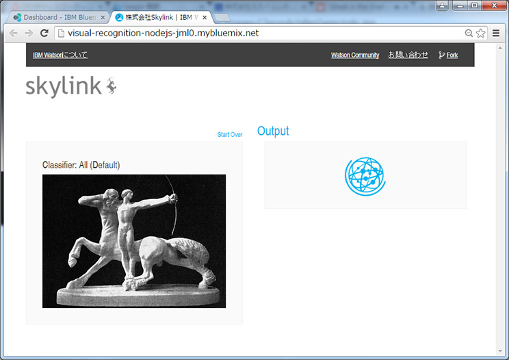 Skylink Watson Visual Recognition